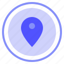 contact, interface, location, ui icon