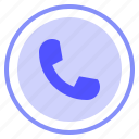 call, interface, phone, ui icon