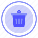 bin, interface, remove, ui icon
