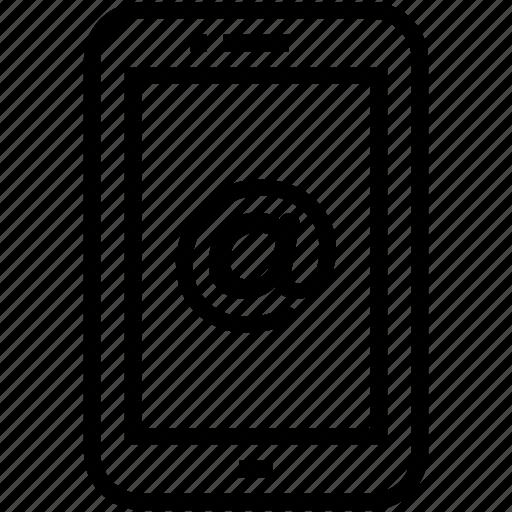 arroba, mobile, mobile data, mobile internet, smartphone icon