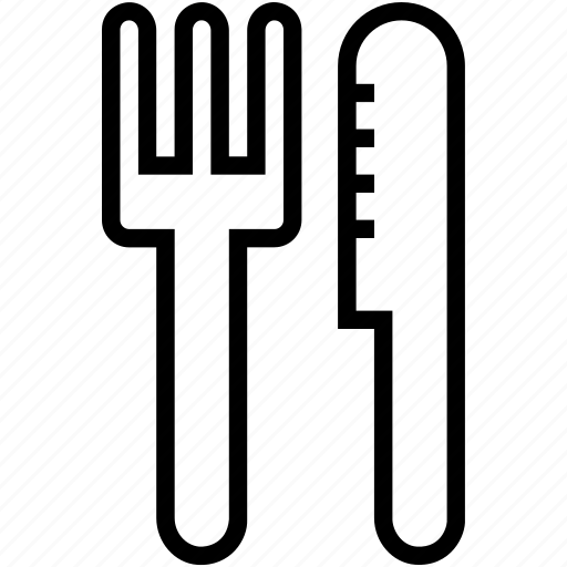 cutlery, eating utensils, fork, knife, utensils icon