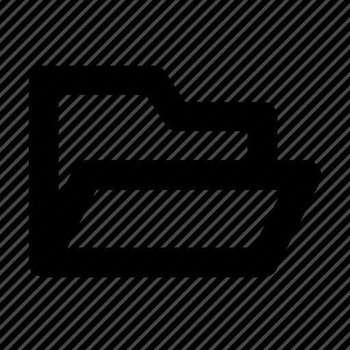 basic, file, folder, interface, open, ui icon
