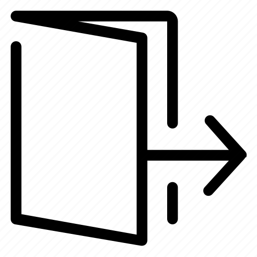 door, exit, interface, ui, user interface icon