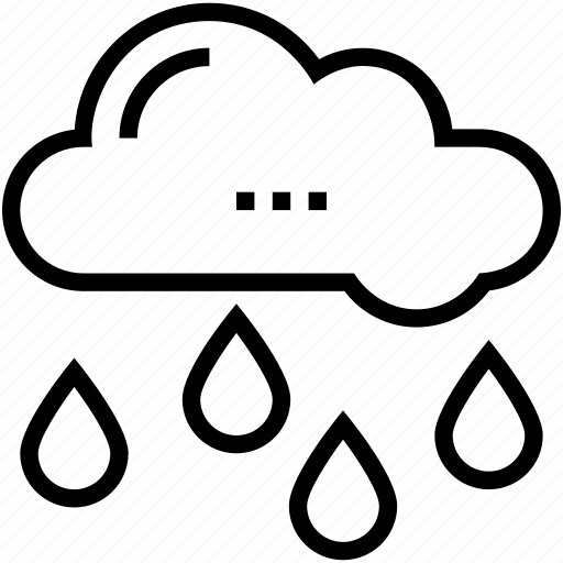 cloud, rain drops, raining, rainy weather, weather icon