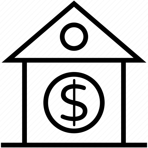 bank, building, court, courthouse, house for sale icon