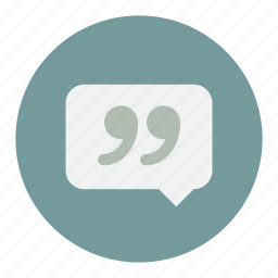 chat, message, messages, quote, quotes icon