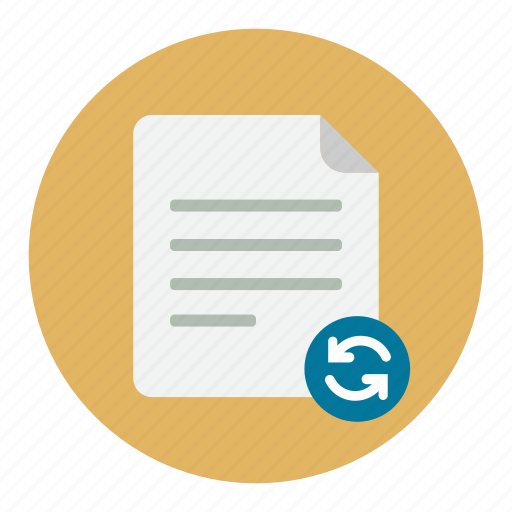document, documents, refresh, reload icon