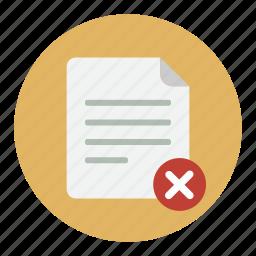 delete, document, documents, file, remove icon