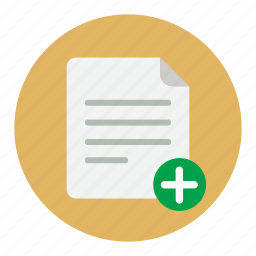 add, document, documents, file icon