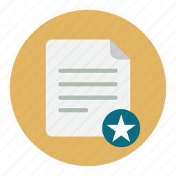 document, documents, star icon