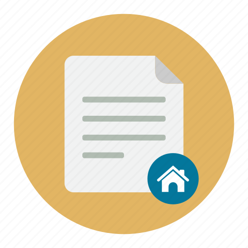 documents, home icon