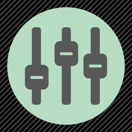 adjustment, audio, equalizer, settings icon
