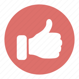 favorite, hand, like, positive, thumbs, up, vote icon