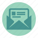 attachment, letter, mail, message, messages icon
