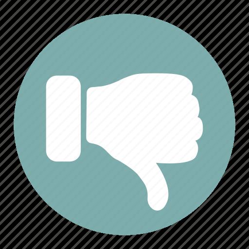 dislike, down, finger, hand, negative, thumbs, vote icon