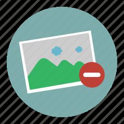 erase, image, photo, picture, remove icon