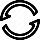 arrow, connection, data, interface icon