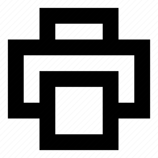 paper, print, printer, text icon