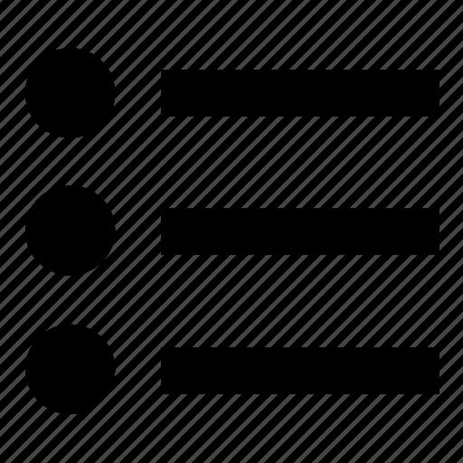 interface, list, menu, text, ui, unordered, unordered list icon