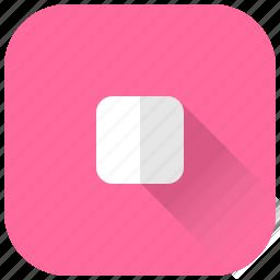stop, ui, video icon