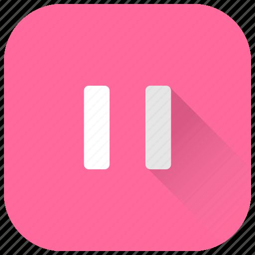pause, ui, video icon