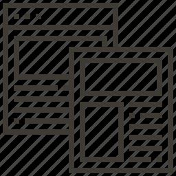 document, interface, web, webpage icon