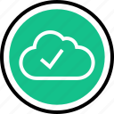 check, cloud, mark icon