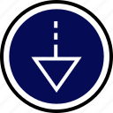 down, navigation, point icon