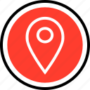 gps, navigation, search icon