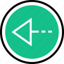 arrow, left, point, pointer icon