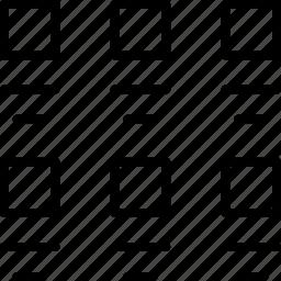 grid, internet, list, thumbnails, users, ux, website icon