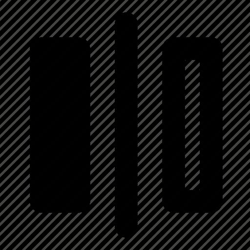 divider, flip, horizontal, left, mirror, right, transform icon