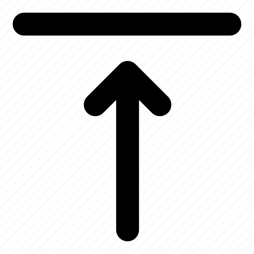 align, align to top, push up, rounded, text, top, up icon