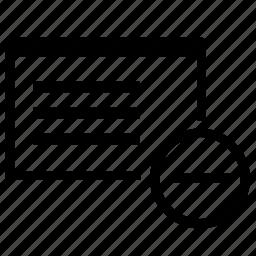 application, cut, erase, minus, operation, program, window icon