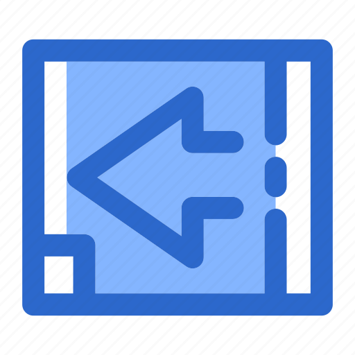 arrow, cursor, direction, forward, left, navigation, sign icon
