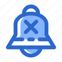 alarm, alert, bell, disable, notification, off, reminder icon
