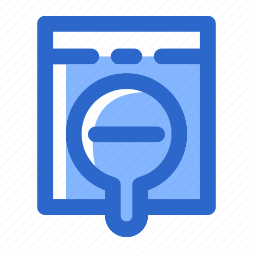 find, glass, look, magnifier, magnifying, search, zoom out icon