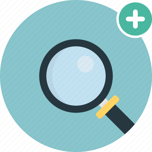 Add, magnifier, search, glass, magnifying, zoom icon - Download on Iconfinder