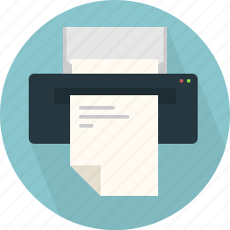 billing, doc, document, documents, page, printer icon