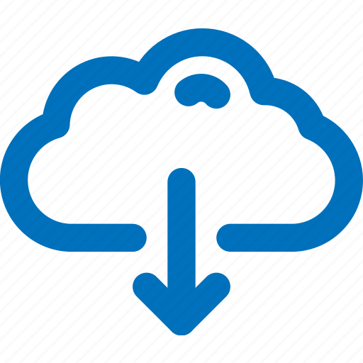 cloud, download icon
