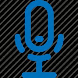 audio, mic, microphone, on, record, sound, speaker icon