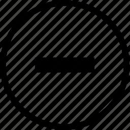 minus, subtract icon