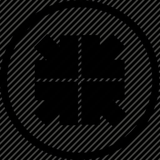 minimize, shrink icon