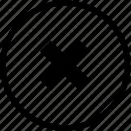 exit, x icon