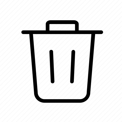 delete, erase, remove, trash bin, tremor icon