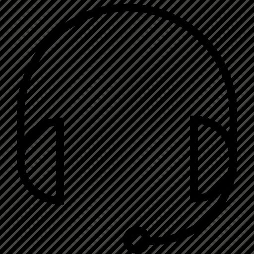 earphones, headphones, listen, office, seo, service, support icon
