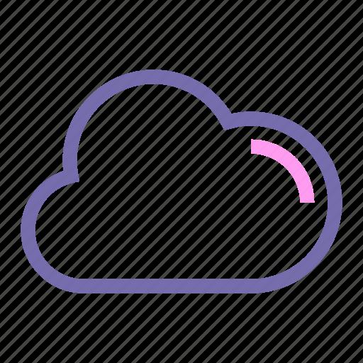 cloud, expanded, line, ui, web icon