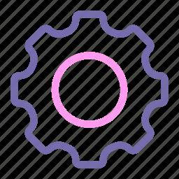 expanded, gear, line, menu, setting, ui icon