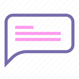 baloon, chat, expanded, line, ui icon