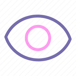 expanded, eye, line, ui, view icon